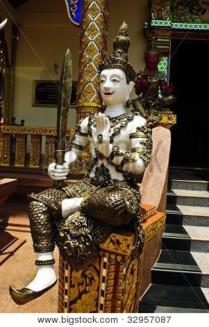 Statue Of Thai Style Guardian Angel
