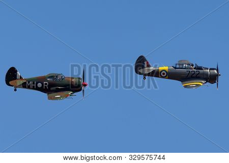Tyabb, Australia - March 9, 2014: Commonwealth Aircraft Corporation Ca-16 Wirraway And Ca-13 Boomera
