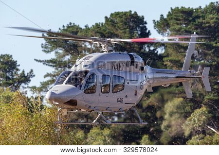 Tyabb, Australia - March 9, 2014: Royal Australian Navy (ran) Bell 429 Helicopter N49-049 Operated B