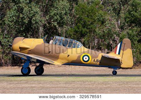 Tyabb, Australia - March 9, 2014: North American T-6 (noorduyn At-16) Harvard Vh-txn Single Engine M