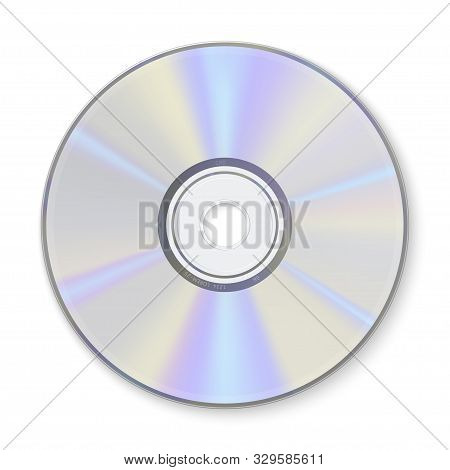 Compact Disc, Information Storage Realistic Vector Illustration