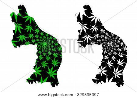 Nakhon Phanom Province (kingdom Of Thailand, Siam, Provinces Of Thailand) Map Is Designed Cannabis L