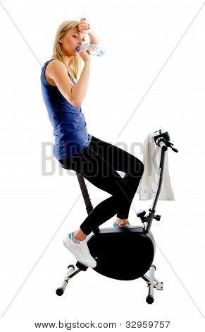 Tired Fitness Girl