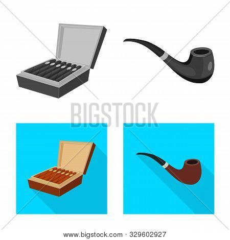 Vector Design Of Refuse And Stop Icon. Set Of Refuse And Habit Stock Vector Illustration.