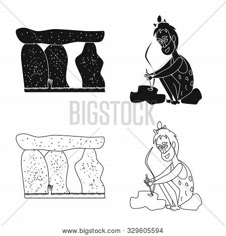 Isolated Object Of Evolution And Prehistory Icon. Collection Of Evolution And Development Vector Ico
