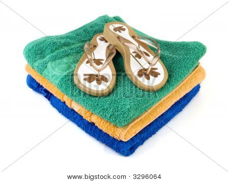 Flip-Flop And Towels 2