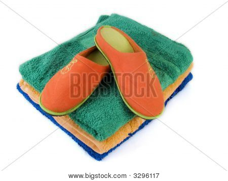Slippers And Towels 2