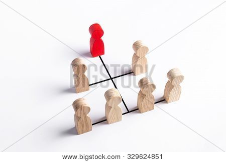 Hierarchical System Of Business And Organization Management. Improving Work Efficiency And Even Dist