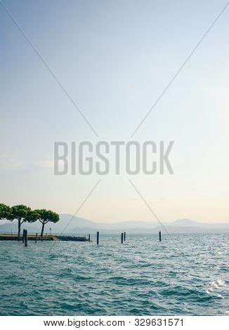 View On Lago Di Garda In The Morning