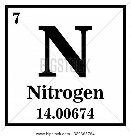 Nitrogen Periodic Table Of The Elements Vector Illustration Eps 10.