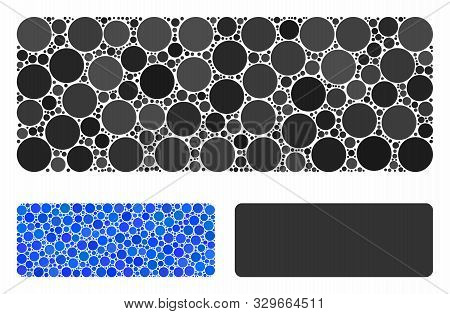Minus Composition Of Round Dots In Different Sizes And Color Tones, Based On Minus Icon. Vector Roun