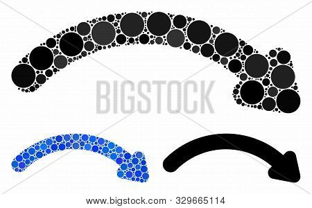 Redo Composition Of Filled Circles In Different Sizes And Color Tinges, Based On Redo Icon. Vector F