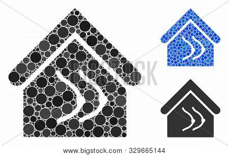 Erotics House Mosaic Of Circle Elements In Different Sizes And Color Tinges, Based On Erotics House
