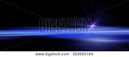 Futuristic Stripe Panorama Background Design With Lights