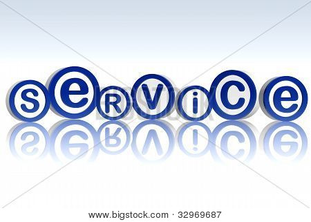 Service In Blue Circles