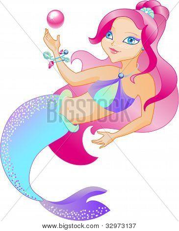 The mermaid is beautiful