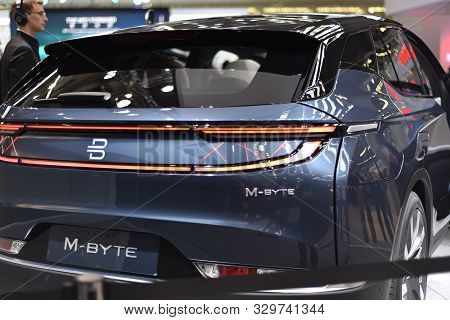 Frankfurt, Germany, September 12-2019: Byton M-byte Iaa 2019