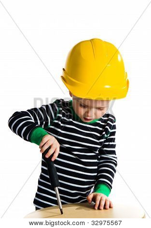 Child With Screwdriver