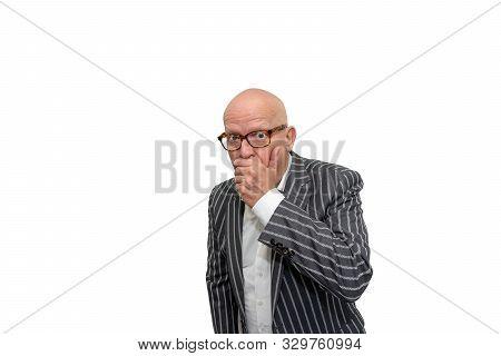 Adult Man Startled And Shocked