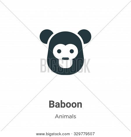 Baboon icon isolated on white background from animals collection. Baboon icon trendy and modern Babo