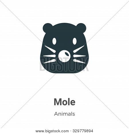 Mole icon isolated on white background from animals collection. Mole icon trendy and modern Mole sym