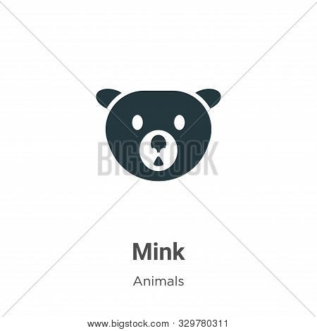 Mink icon isolated on white background from animals collection. Mink icon trendy and modern Mink sym