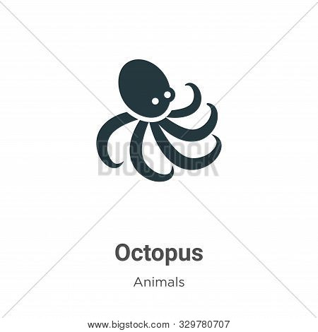 Octopus icon isolated on white background from animals collection. Octopus icon trendy and modern Oc