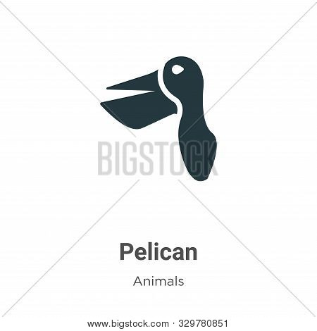 Pelican icon isolated on white background from animals collection. Pelican icon trendy and modern Pe