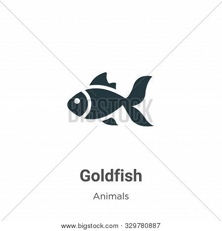 Goldfish icon isolated on white background from animals collection. Goldfish icon trendy and modern
