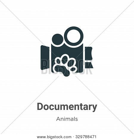 Documentary Vector Icon On White Background. Flat Vector Documentary Icon Symbol Sign From Modern An