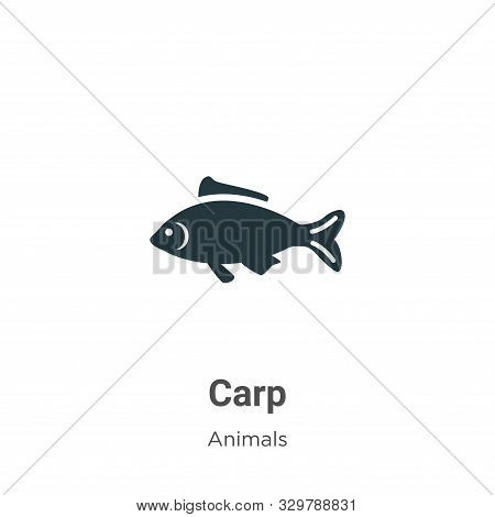 Carp icon isolated on white background from animals collection. Carp icon trendy and modern Carp sym