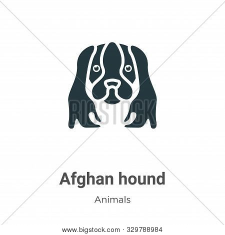 Afghan hound icon isolated on white background from animals collection. Afghan hound icon trendy and