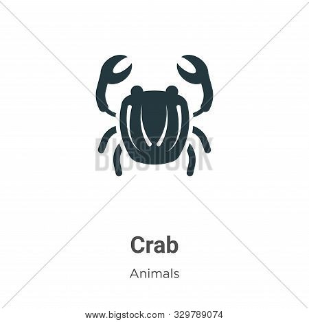 Crab symbol icon isolated on white background from animals collection. Crab symbol icon trendy and m