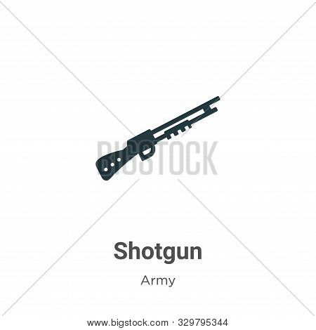Shotgun icon isolated on white background from army collection. Shotgun icon trendy and modern Shotg