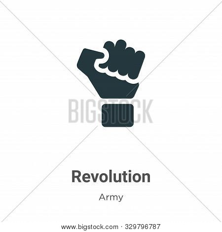 Revolution icon isolated on white background from army collection. Revolution icon trendy and modern