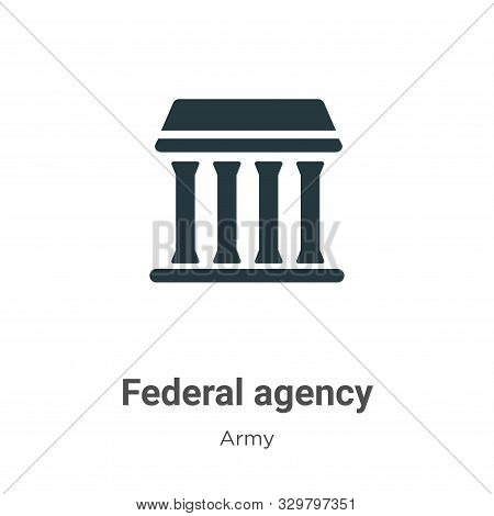 Federal agency icon isolated on white background from army collection. Federal agency icon trendy an