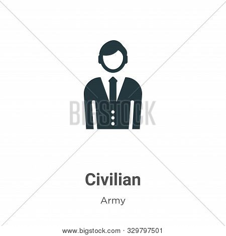 Civilian icon isolated on white background from army collection. Civilian icon trendy and modern Civ