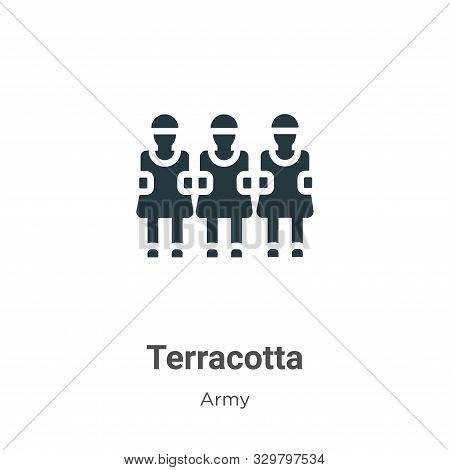 Terracotta icon isolated on white background from army collection. Terracotta icon trendy and modern