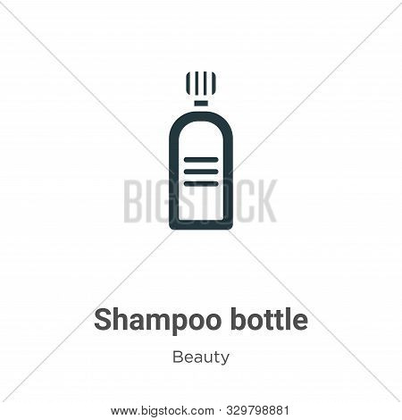 Shampoo bottle icon isolated on white background from beauty collection. Shampoo bottle icon trendy