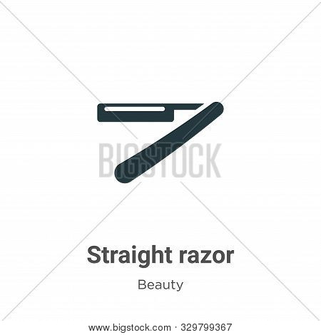 Straight razor icon isolated on white background from beauty collection. Straight razor icon trendy