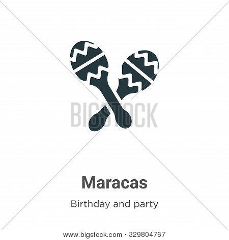 Maracas icon isolated on white background from birthday and party collection. Maracas icon trendy an