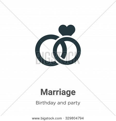 Marriage icon isolated on white background from birthday and party collection. Marriage icon trendy