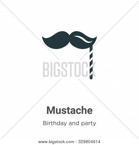 Mustache icon isolated on white background from birthday and party collection. Mustache icon trendy
