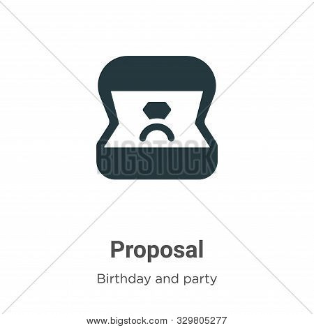 Proposal icon isolated on white background from birthday and party collection. Proposal icon trendy