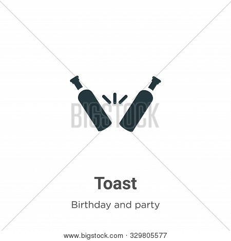 Toast icon isolated on white background from birthday and party collection. Toast icon trendy and mo