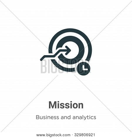 Mission icon isolated on white background from business and analytics collection. Mission icon trend