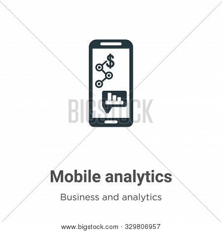Mobile analytics icon isolated on white background from business and analytics collection. Mobile an
