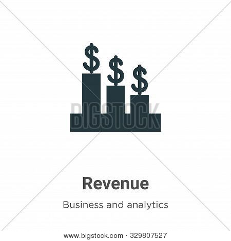 Revenue Vector Icon On White Background. Flat Vector Revenue Icon Symbol Sign From Modern Business A
