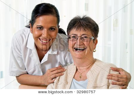 a nurse in aged care for the elderly in nursing homes