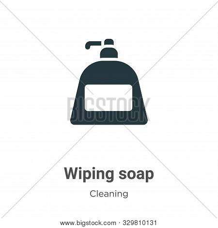 Wiping soap icon isolated on white background from cleaning collection. Wiping soap icon trendy and